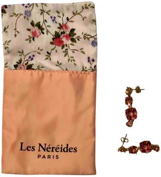Les Nereides Pink Crystal Earrings