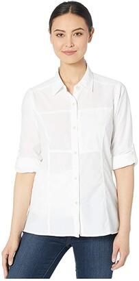 Exofficio Lightscapetm Long Sleeve Shirt (White) Women's Long Sleeve Button Up