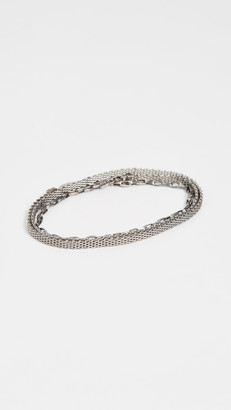 The Monotype The Ausin Double Wrap Micro Mesh Chain Bracelet