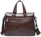 GUGGE Genunine Leather Mens Briefcase Tote Bag Messenger