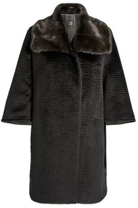Cinzia Rocca Mink-Trimmed Coat