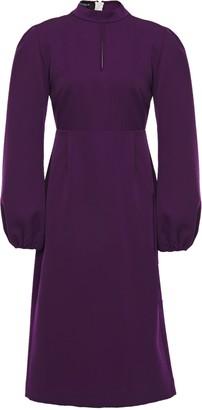 Rochas Cutout Wool-twill Dress