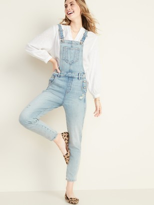 Old Navy Distressed Jean Overalls for Women
