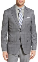 Moods of Norway Bergen Trim Fit Windowpane Wool Sport Coat