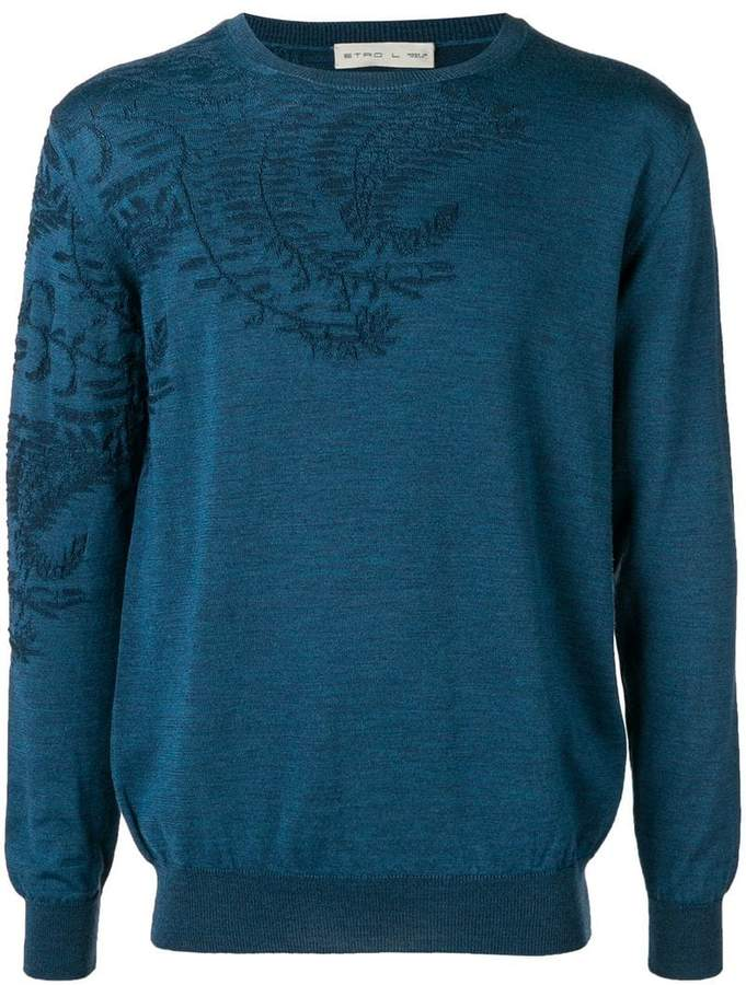 Etro leaf pattern sweater