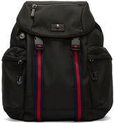 Gucci Men's Zaino Striped Webbing Strapped Backpack In Black