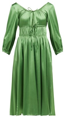 Cult Gaia Winonah Satin Dress - Womens - Green