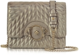 Roberto Cavalli Star Metallic Quilted Nappa Leather Shoulder Bag