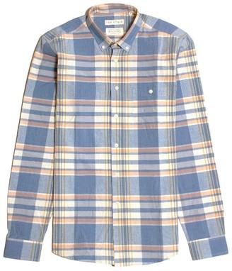 Far Afield Casual Button Down Long Sleeve Shirt - Salines Check