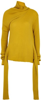 Marques Almeida Mustard ribbed merino wool jumper