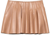 Alexander Wang Preorder Plonge Lamb Irregular Seam Vacuum Pressed Mini Skirt