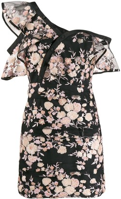 Self-Portrait Floral Embellished Mini Dress