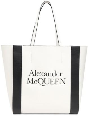 Alexander McQueen Signature Logo Leather Tote Bag