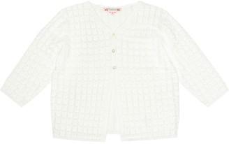 Bonpoint Cotton pointelle cardigan