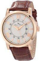 Lucien Piccard Men's 11577-RG-02S Stockhorn Textured Dial Brown Leather Watch