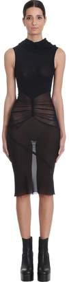 Rick Owens Dustlator Dress In Black Tech/synthetic