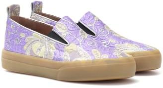 Dries Van Noten Brocade slip-on sneakers