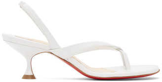Christian Louboutin White Taralita 55 Heeled Sandals