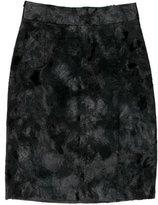 Nili Lotan Faux Fur Pencil Skirt