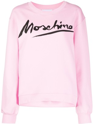 Moschino Logo Signature crewneck sweatshirt