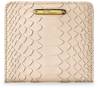 GiGi New York Mini Python-Embossed Leather Bi-Fold Wallet