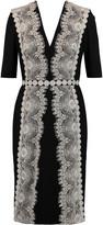 Catherine Deane Lace-appliquéd jersey dress