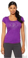New York & Co. Love, NY&C Collection - Embellished Heart Logo Tee