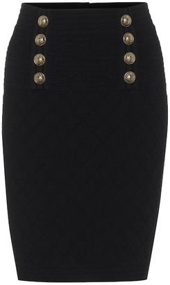 Balmain Embellished knit pencil skirt