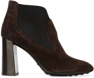 Tod's Chunky Heel Ankle Boots