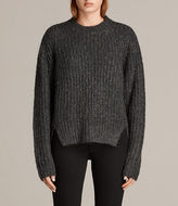 AllSaints Klash Cropped Crew Jumper