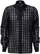 Ann Demeulemeester sheer grid shirt - men - Cotton/Polyester/Cupro - XS