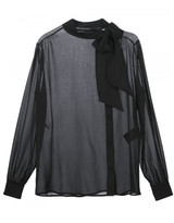 Saint Laurent pussybow sheer blouse