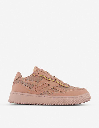 Reebok x Victoria Beckham Dual Court II leather-trimmed woven trainers