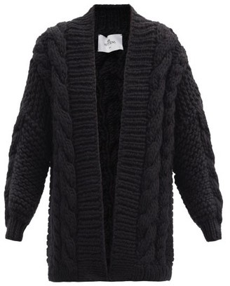Mr. Mittens Oversized Cable-knit Wool Cardigan - Black