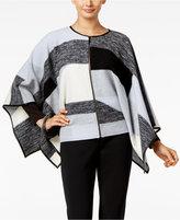 Alfani PRIMA Merino Wool Colorblocked Cape, Only at Macy's