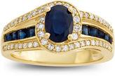 FINE JEWELRY Genuine Blue Sapphire & 1/3 C.T. T.W. Diamond 10K Yellow Gold Ring