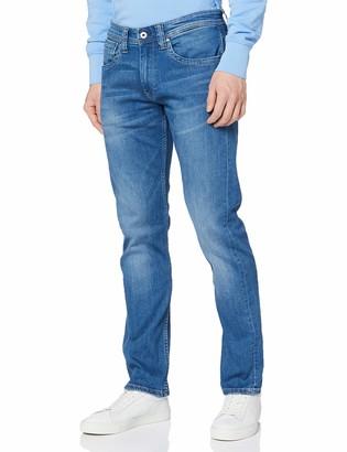 Pepe Jeans Mens Cash Straight Jeans Blue (Denim 000) 40W / 32L