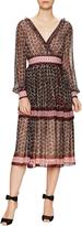 Kate Spade Women's Floral Tile Tiered Midi Dress