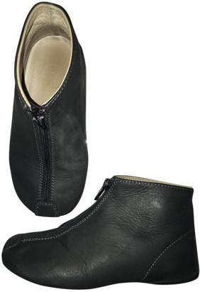 Gallucci Black Leather Slippers
