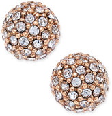 Charter Club Gold-Tone Pavé Ball Stud Earrings, Only at Macy's