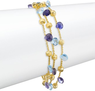 Marco Bicego Paradise Blue 18K Yellow Gold, Blue Topaz & Iolite Triple-Chain Bracelet