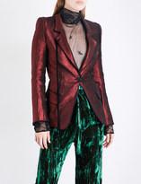 Ann Demeulemeester Single-breasted metallic linen-blend blazer