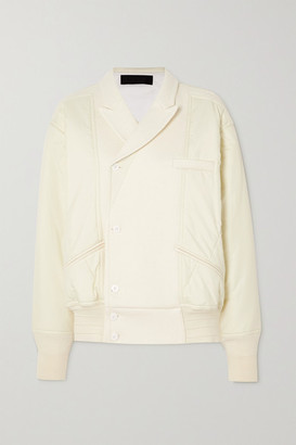 Haider Ackermann Double-breasted Wool-blend And Shell Jacket - Ivory