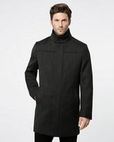Le Château Textured Wool Twill Crombie Coat