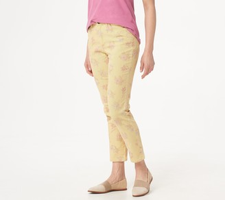 Denim & Co. Studio by Stripe Printed Floral Ankle Pants