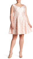 Taylor Floral Print Sweetheart Fit & Flare Dress (Plus Size)