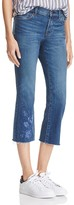 J Brand Embroidered Raw Hem Selena Jeans in Forget Me Not - 100% Exclusive