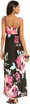 Style&Co. Petite Dress, Sleeveless Floral-Print Ruffled Maxi