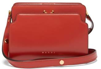 Marni Trunk Reverse Medium Leather Shoulder Bag - Womens - Orange