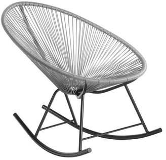 Latitude Run Meyerwood Wicker Rocking Chair Latitude Run Color: Turquoise